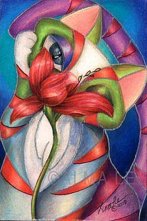 Art: Libby and the Lilly (SOLD) by Artist Alma Lee