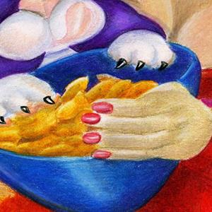 Detail Image for art Goldfish Kitty Crackers (SOLD)