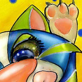 Detail Image for art Kitty High Five er Four Maybe SOLD