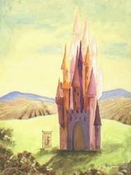 Art: Dragon Banner Castle  by Artist Cynthia Schmidt