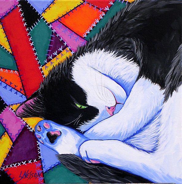 Art: A Cozy Spot by Artist Lisa M. Nelson