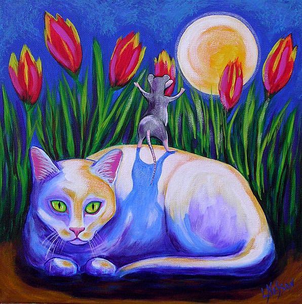 Art: Spring Moon by Artist Lisa M. Nelson