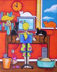 Art: Online Shopping by Artist Lisa M. Nelson