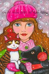 Art: Winter Friends by Artist Lisa M. Nelson