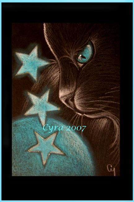 Black Cat Star Symbol By Cyra R Cancel From Cat Gallery