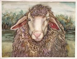 Art: Fancy Ewe by Artist Catherine Darling Hostetter