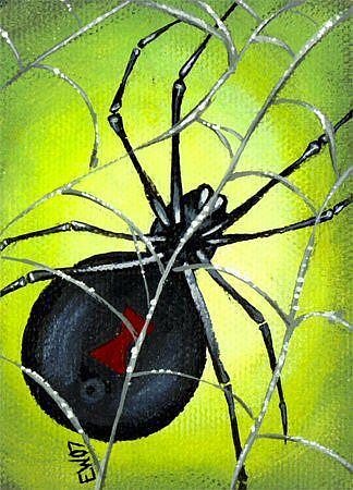 Art: Black Widow by Artist Elaina Wagner