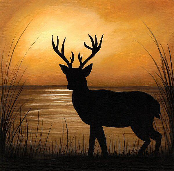 Art: Deer Lake by Artist Elaina Wagner