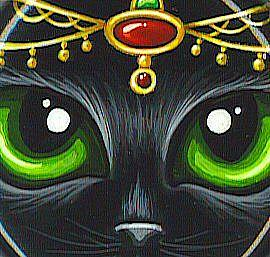 Detail Image for art Ruby & Emerald Jeweld Kitty Ornament