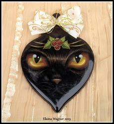 Art: Holly Jeweled Kitty by Artist Elaina Wagner