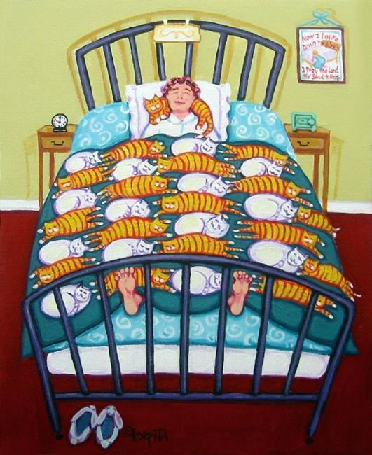 Art: Cat Quilt by Artist Rebecca Stringer Korpita