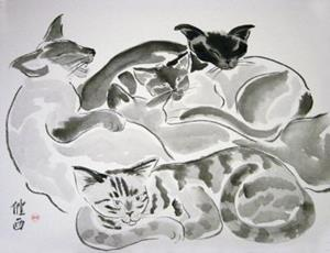 Detail Image for art Cat Quilt