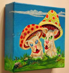 Detail Image for art Sweet Talkin' Cat - Shrooms