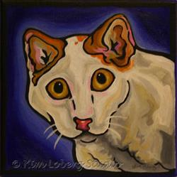 Art: Blue Period Cat by Artist Kim Loberg