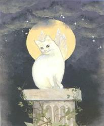 Art: Kitty Fairy   by Artist Cynthia Schmidt