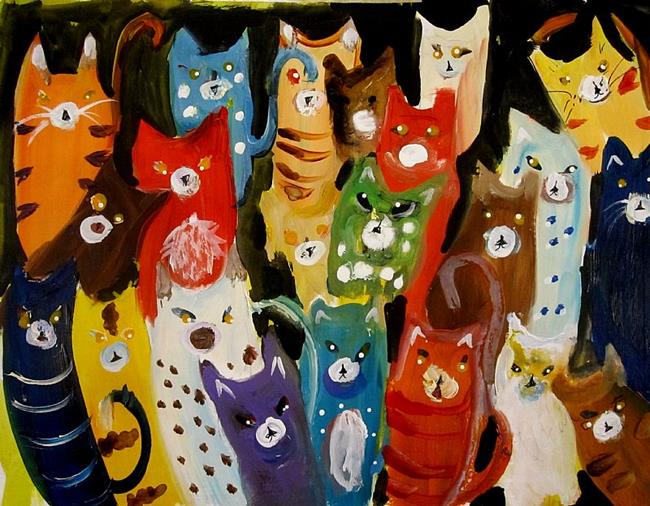 Art: Cats by Artist Delilah Smith