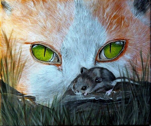Art: catmouse by Artist Dia Spriggs