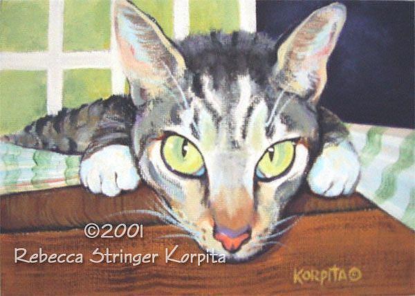 Art: Cat Disappearing by Artist Rebecca Stringer Korpita