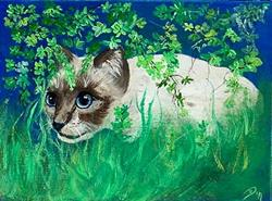 Art: Mighty Siamese Hunter by Artist Dia Spriggs