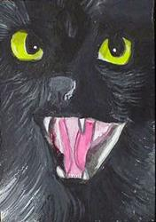 Art: Bad Black Cat by Artist Dia Spriggs