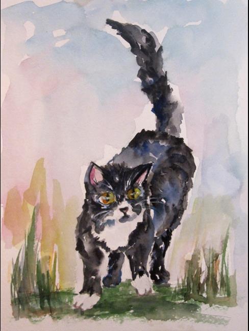 Art: Tuxedo Cat by Artist Delilah Smith