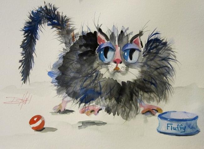 Art: Fluffy by Artist Delilah Smith