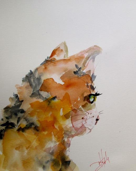Art: Calico Cat by Artist Delilah Smith