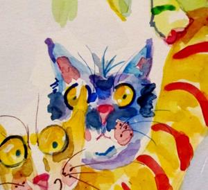 Detail Image for art Colorful Cats