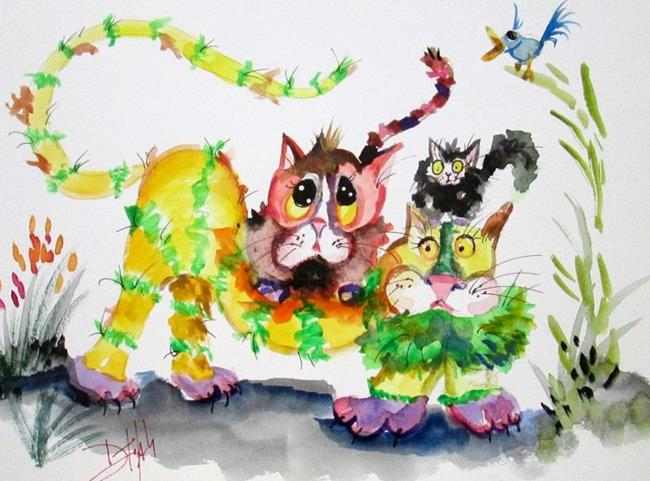 Art: Whimsical Cats-sold by Artist Delilah Smith
