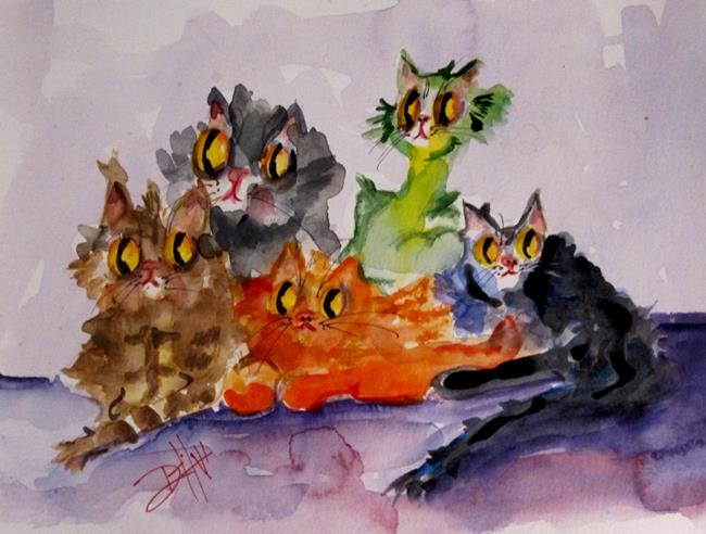 Art: Kitty Pile by Artist Delilah Smith