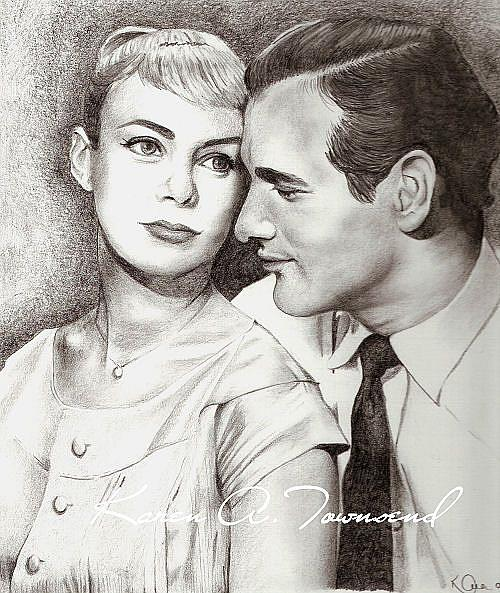 Art: Joanne and Paul by Artist Karen Townsend