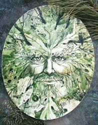 Art: Evergreen Man by Artist Cathy  (Kate) Johnson