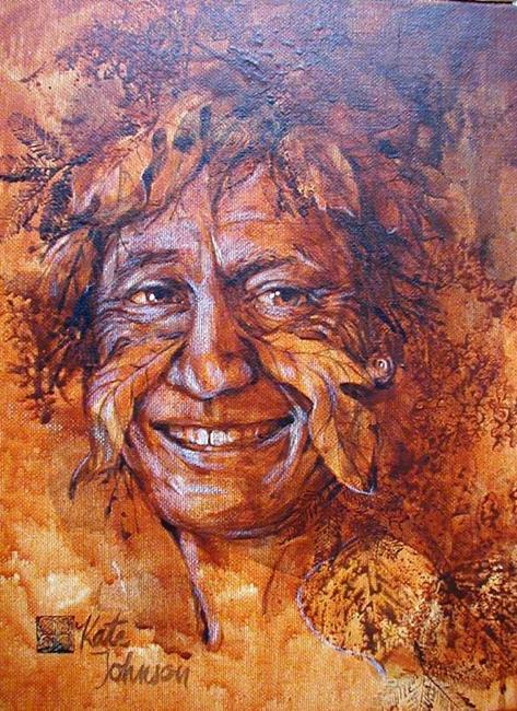 Art: Greenman of Autumn by Artist Cathy  (Kate) Johnson