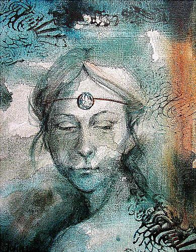 Art: Young Celtic Madonna by Artist Cathy  (Kate) Johnson