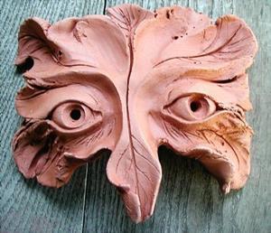Detail Image for art GreenMan Owl Mask