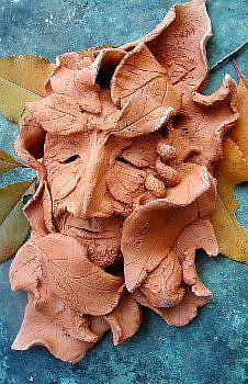 Art: Grandfather Sleeps Greenman by Artist Cathy  (Kate) Johnson