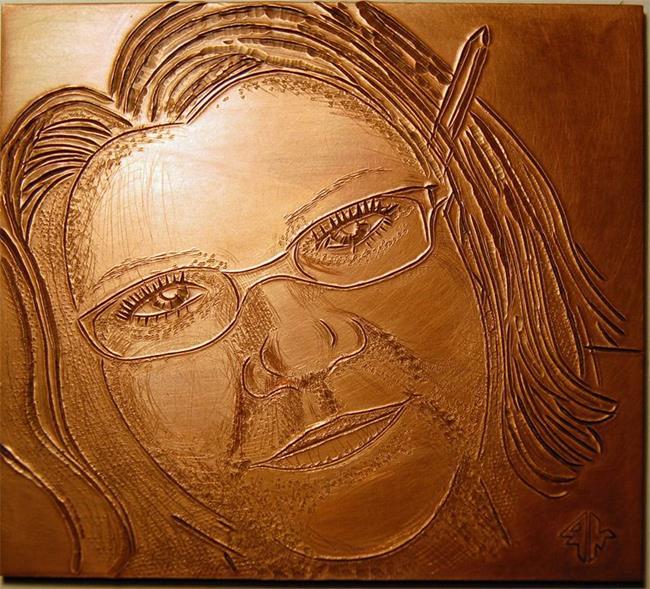 Art: Kris Jean in Copper by Artist Robin Cruz McGee
