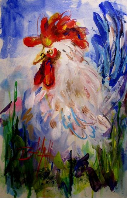 Art: Abstract Cluck by Artist Delilah Smith