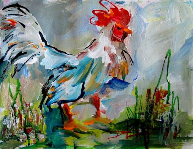 Art: Abstract Rooster by Artist Delilah Smith