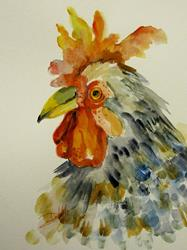 Art: Rooster No.13 by Artist Delilah Smith