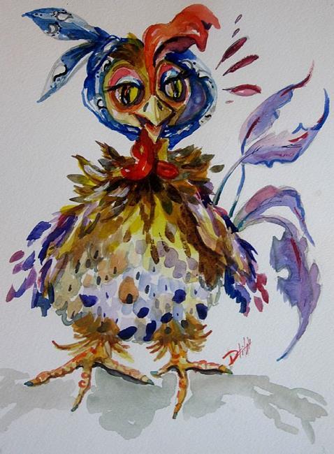 Art: Old Hen by Artist Delilah Smith