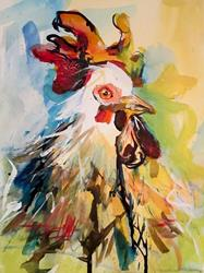 Art: Rooster Doodle Doo-SOLD by Artist Delilah Smith