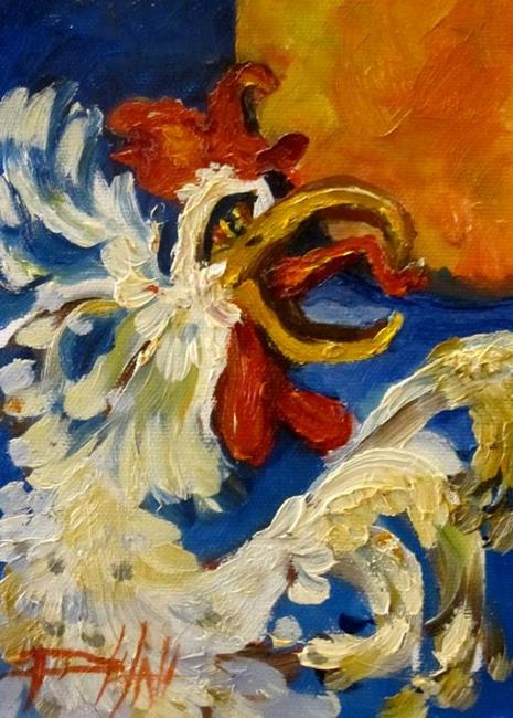 Art: Wake Up Rooster by Artist Delilah Smith