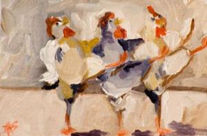 Detail Image for art Chicken Conga-sold
