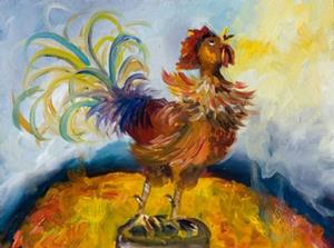 Detail Image for art Sunrise  Rooster No. 2