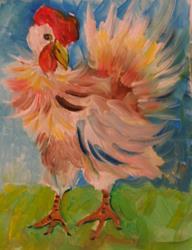 Art: Chicken by Artist Delilah Smith