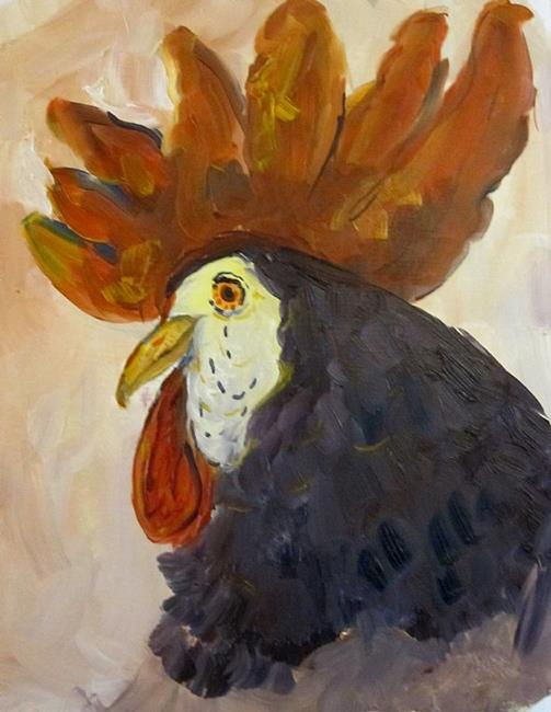 Art: Rooster with the Red Comb by Artist Delilah Smith