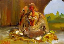 Art: A Mother Hen by Artist Delilah Smith