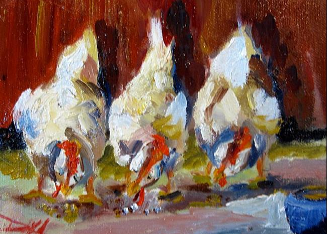 Art: Afternoon Chickens by Artist Delilah Smith