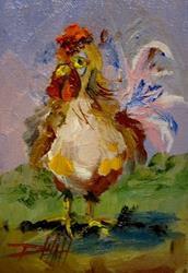 Art: Little Rooster by Artist Delilah Smith